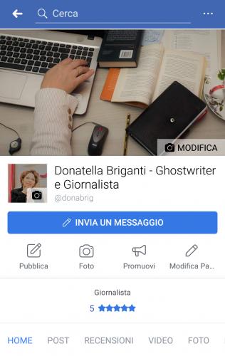 Profilo pag FB