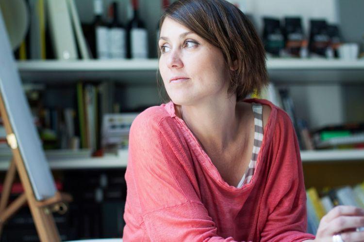Francesca Pannuti, mamma imprenditrice che ha allattato, in un momento di riflessione