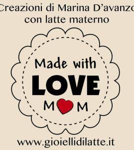 Logo Made with love mom - gioielli di latte di Marina D'Avanzo