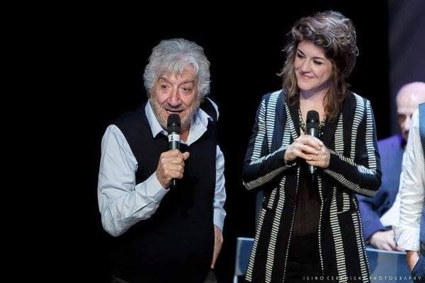 Carlotta e il padre Gigi Proietti