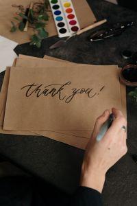 Scrivere Grazie è importante