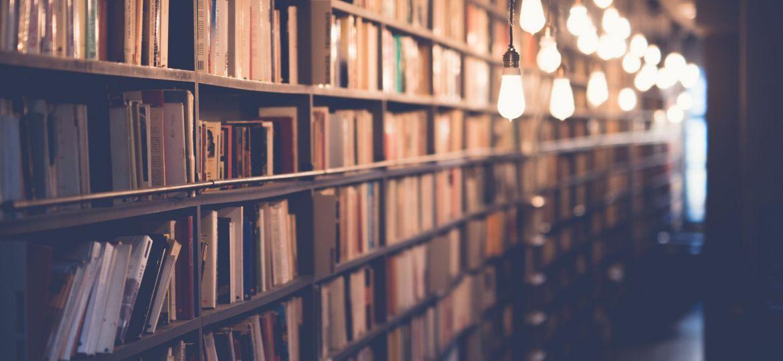 tanti libri in biblioteca